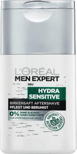 L'ORÉAL PARIS MEN EXPERT After-Shave Balsam »Hydra Sensitive Birkensaft Fluid«, Pflegt sensible & empfindliche Haut