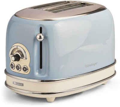 Ariete Toaster Vintage, 2 kurze Schlitze, für 2 Scheiben, 815 W, blau