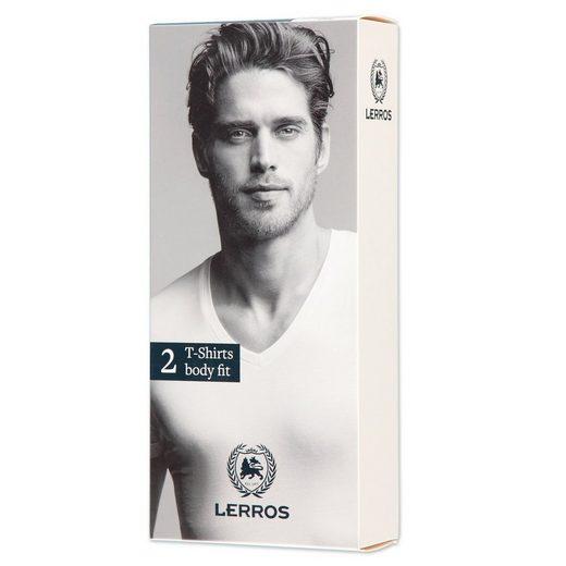 LERROS Doppelpack T-Shirt Body Fit V-Ausschnitt