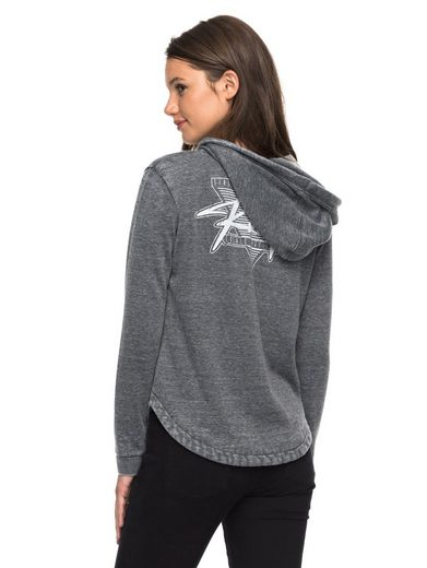 Roxy Hooded Sweatshirt With Zipper Wiped Out A