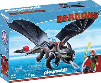 Playmobil® Konstruktionsspielsteine »Hicks und Ohnezahn (9246), Dragons«