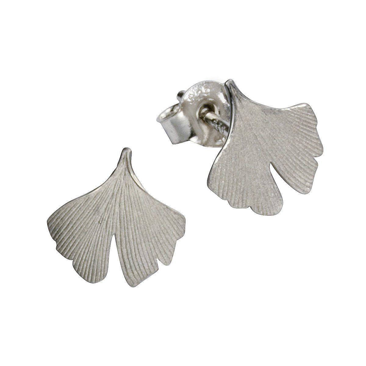 Firetti Ohrstecker »925/- Sterling Silber rhodiniert Ginkgo«