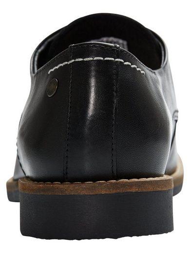 Jack & Jones Mid-Top-Schuhe mit Ledermuster