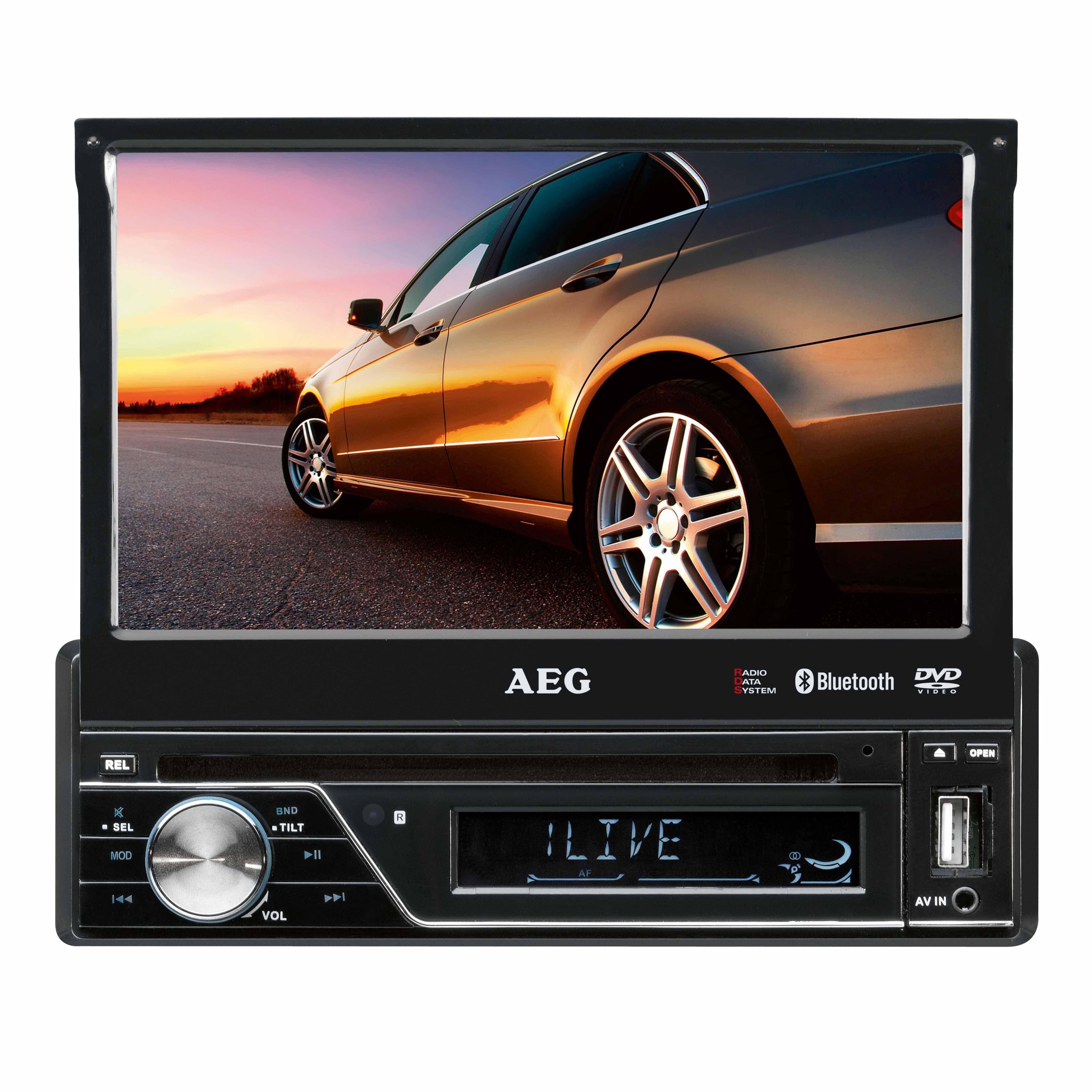 AEG 1-DIN Moniceiver mit Touchscreen, SD Kartenslot, USB und DVD »AR 4026 DVD«