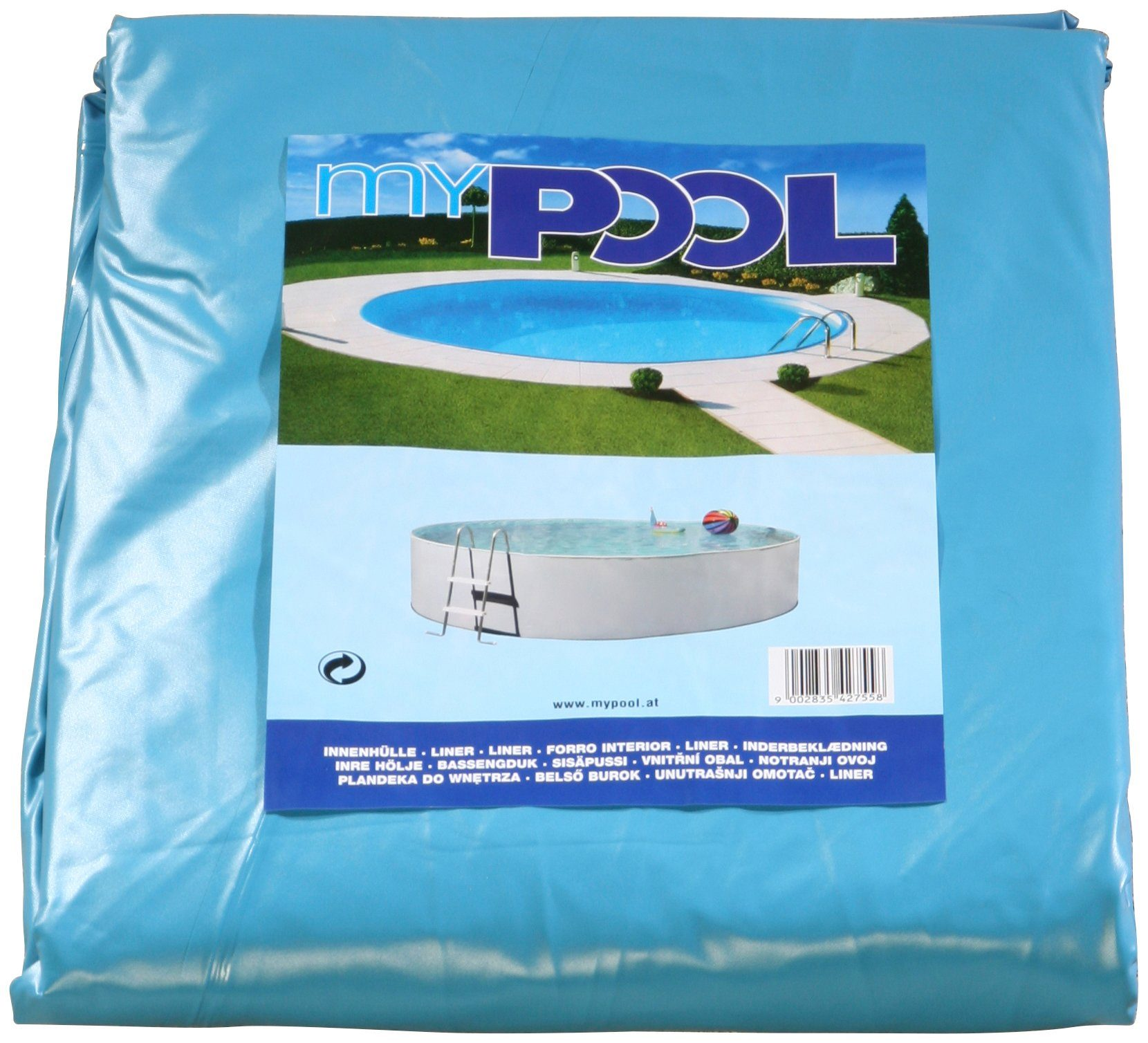 MYPOOL Pool-Innenhülle , für ØxH: 400x120 cm, 0,4 mm, blau