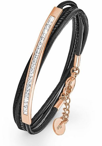 Damen s.Oliver RED LABEL Armband 2018795 mit Swarovski® Kristallen schwarz | 04056867007856