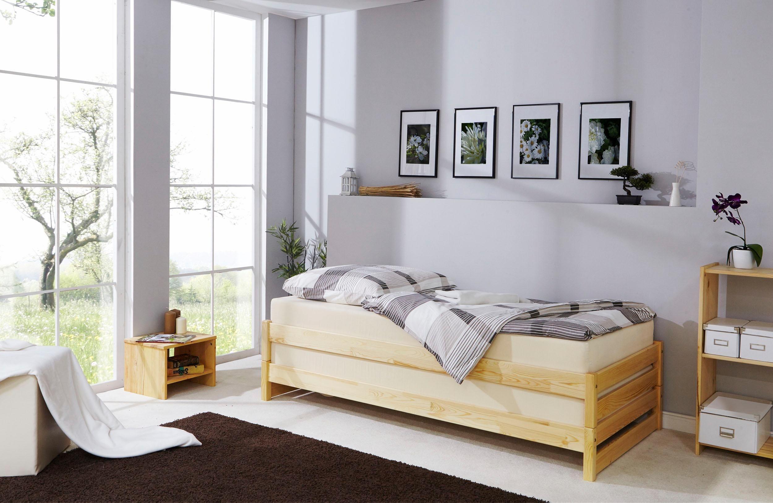 Ticaa Stapelliege mit Rollroste, Kiefer   Schlafzimmer > Lattenroste > Rollroste   Holz - Kiefer   Ticaa