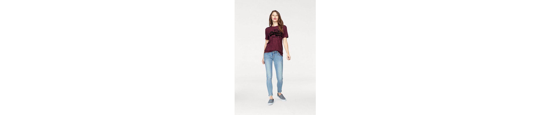 Superdry T-Shirt VINTAGE LOGO SLIM BF TEE, mit großem Logo Flock