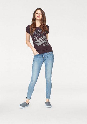 Superdry T-Shirt LUCKY ACES SEQUIN ENTRY TEE, mit Pailetten und Glitzer Logo