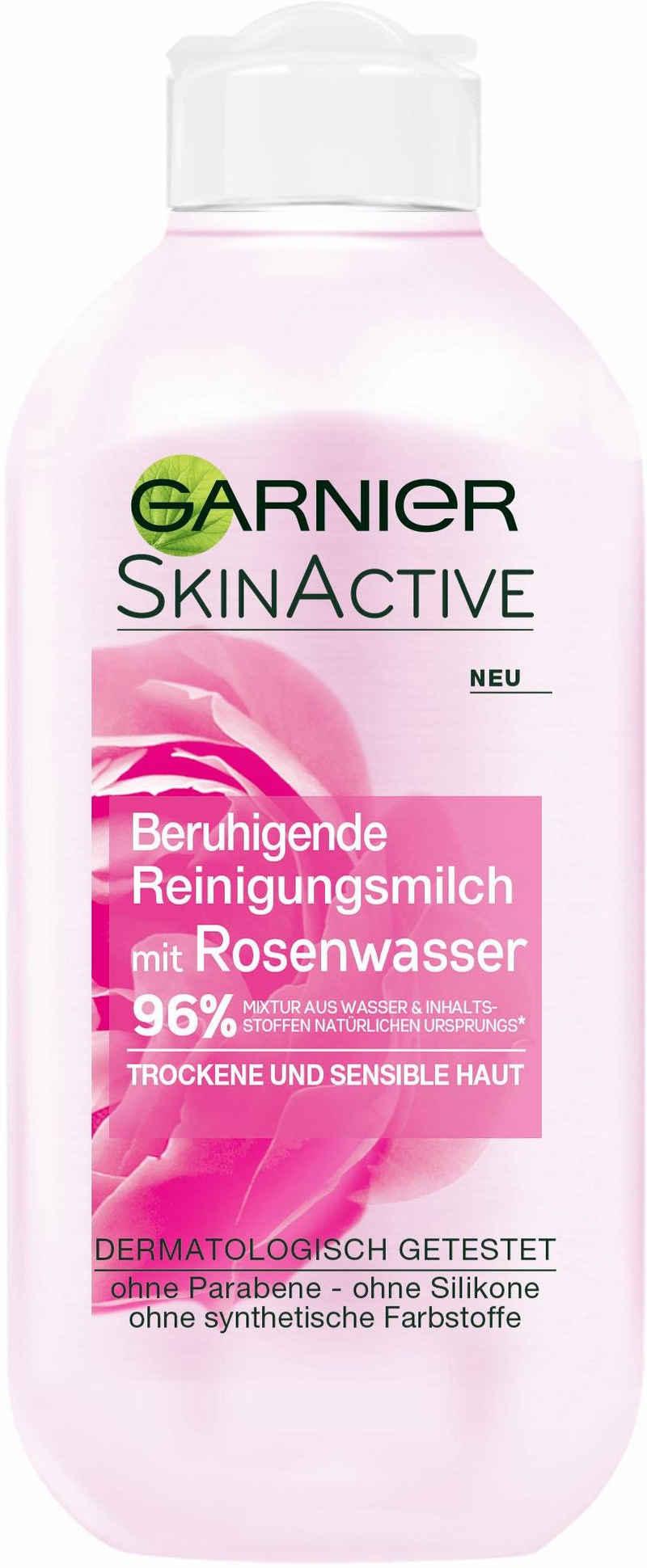 GARNIER Gesichts-Reinigungsmilch »Skin Active Rose«, Mit Rosenwasser