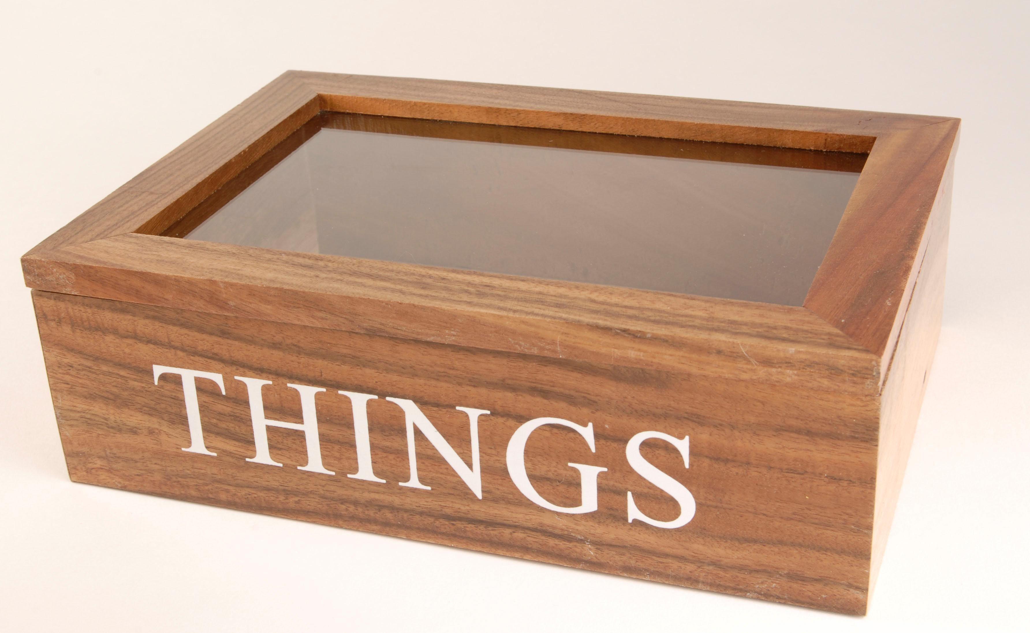 Home affaire Aufbewahrungsbox »THINGS« mit Glasdeckel