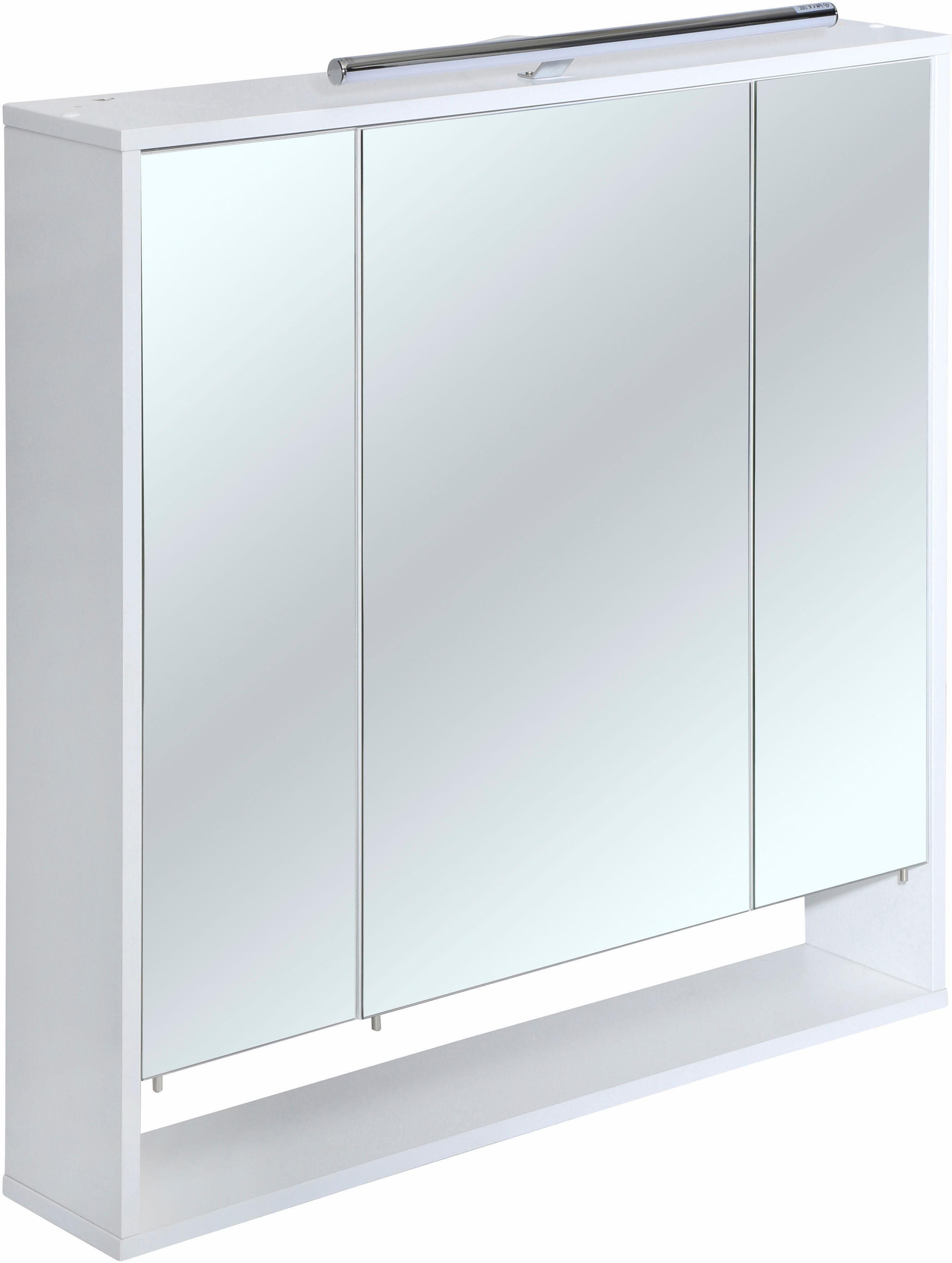 TOM TAILOR Spiegelschrank »WESTCOAST« 3-türig, mit LED Beleuchtung, Breite 83,5 cm
