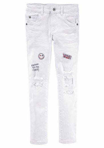 Arizona Stretch-Jeans mit destroyed -Effekten
