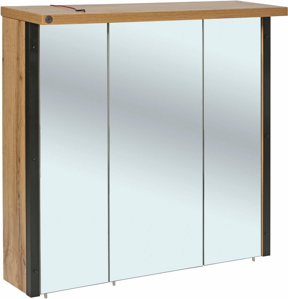 Exquisit Spiegelschrank 3 Türig Dekoration Von Tom Tailor »sohoÂ« 3-türig, Mit Led Beleuchtung,
