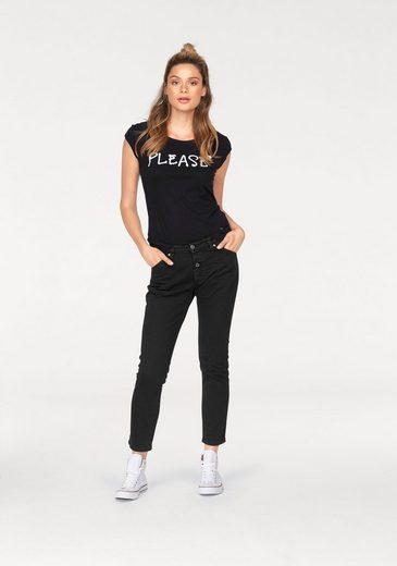 Please Jeans T-Shirt, mit Logoprint