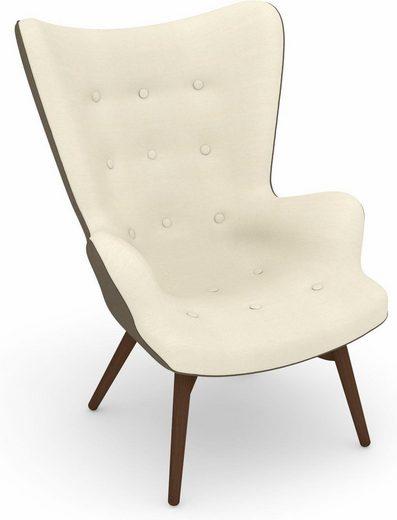 Max Winzer® Sessel »Arne«, im Retrolook, zum Selbstgestalten, Hochlehner