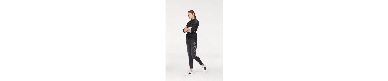 Herrlicher Skinny-fit-Jeans Superslim Cropped, mit Blumen-Stickerei
