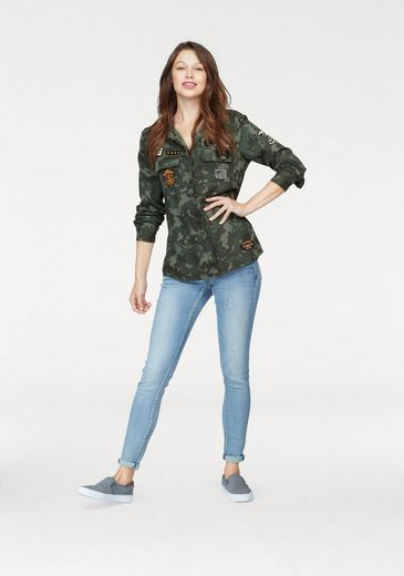 Superdry Hemdbluse MILITARY AMBER SHIRT, im Military Look