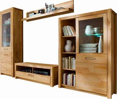 Massivholz Wohnwand kaufen » Holz & Holzoptik | OTTO