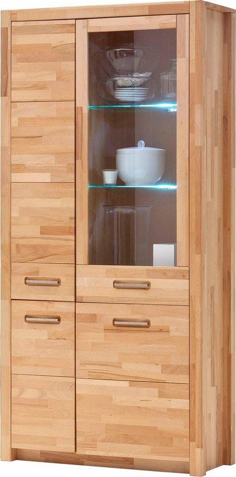 kombi vitrine inklusive beleuchtung h he 203 cm otto. Black Bedroom Furniture Sets. Home Design Ideas