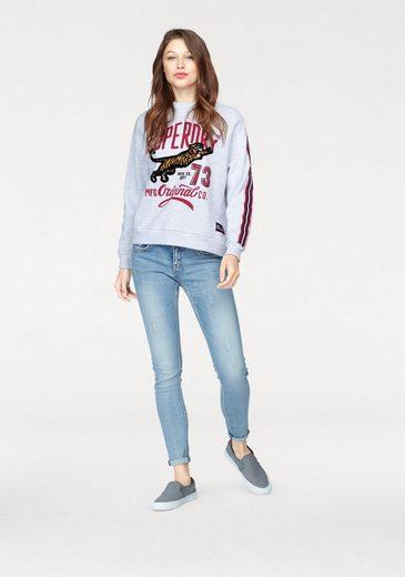 Superdry Sweatshirt ORIGINAL TIGER CREW SWEAT, mit Flock Print