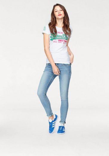 Superdry Print-Shirt VINTAGE LOGO SHADOW ENTRY TEE, mit leicht erhabenem Logoprint