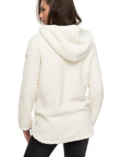 Roxy Hooded Sweatshirt With Zipper Curl Out