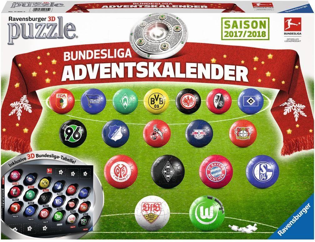 Ravensburger Puzzleball Adventskalender, »Bundesliga 2017«