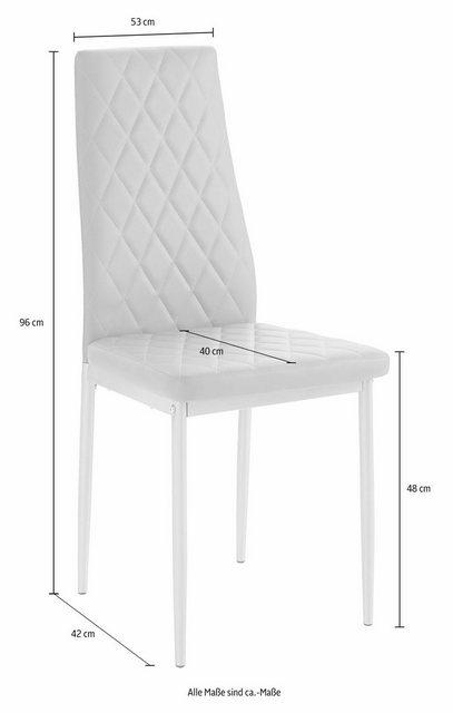 Essgruppen - my home Essgruppe »Lynn Brooke«, (Set, 5 tlg), mit Tisch in Weiß, Breite 120 cm  - Onlineshop OTTO