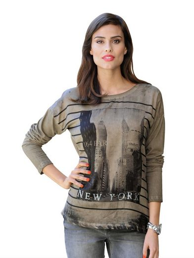 Alba Moda Shirt mit New York-Print