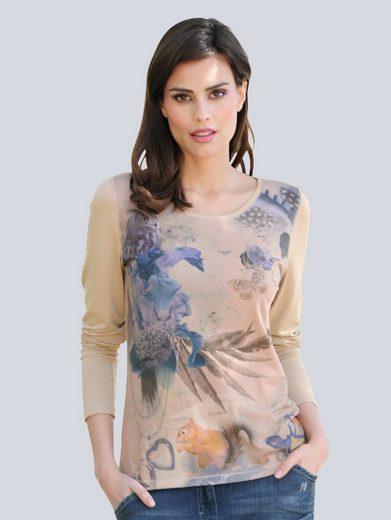 Alba Moda Shirt mit exklusivem Druck