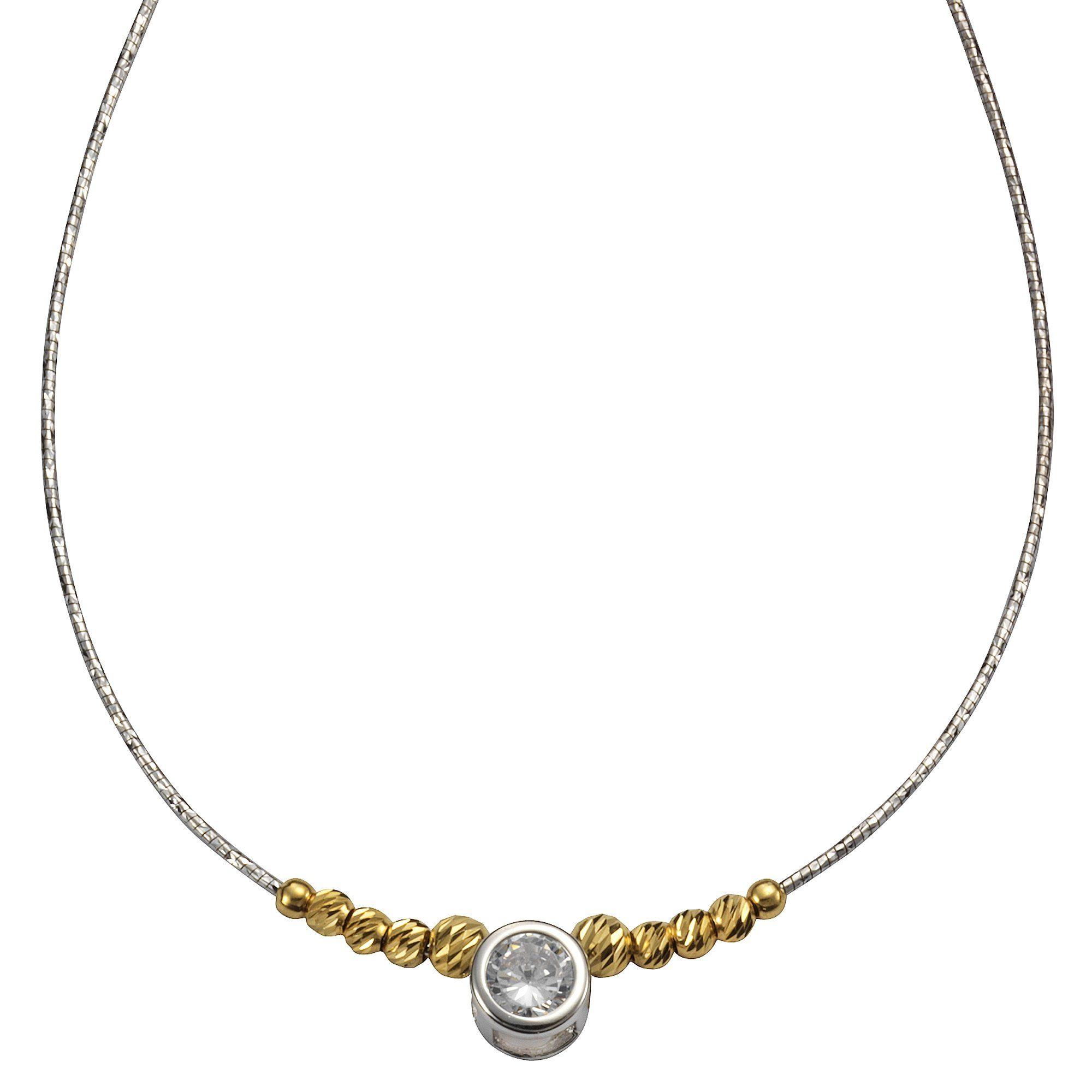 CELESTA Collier Omega »925/- Sterling Silber Zirkonia bicolor/diamantiert«