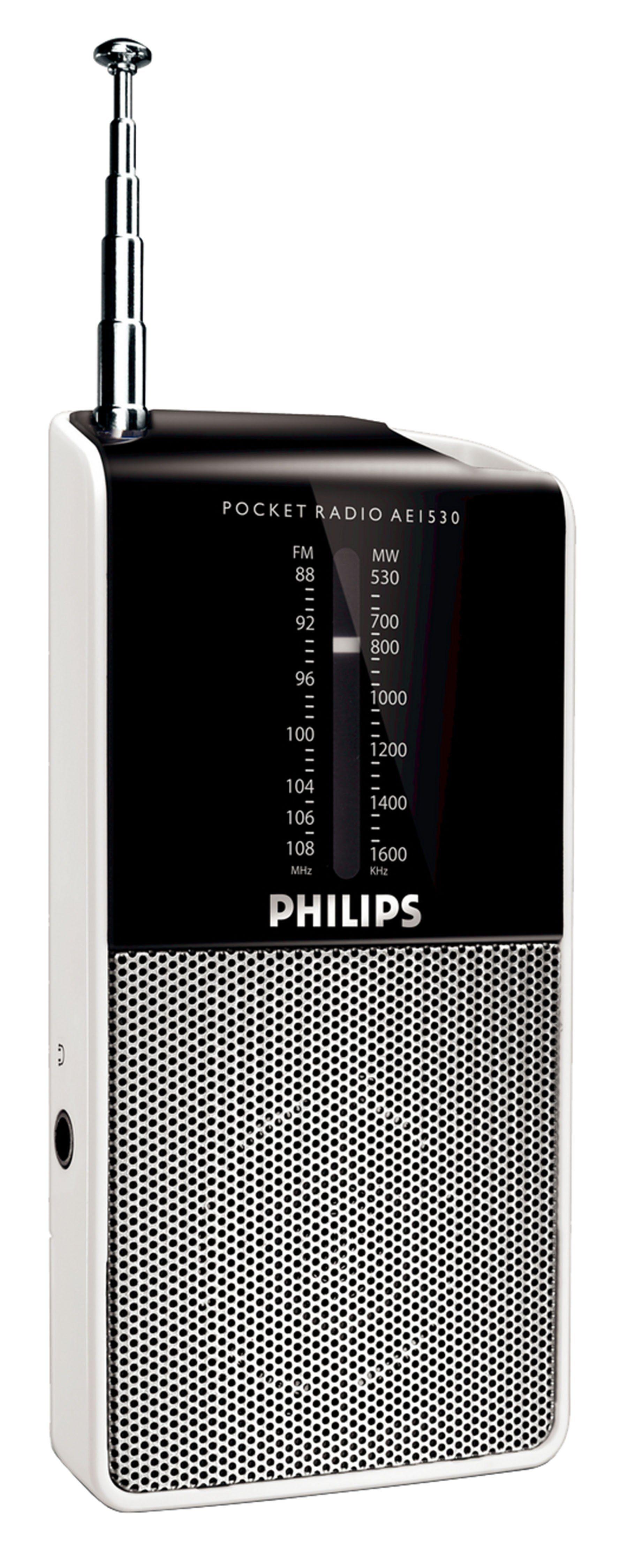 Philips Analoger UKW/MW-Tuner mit Lautsprecher und Akkubetrieben »AE1530/12«