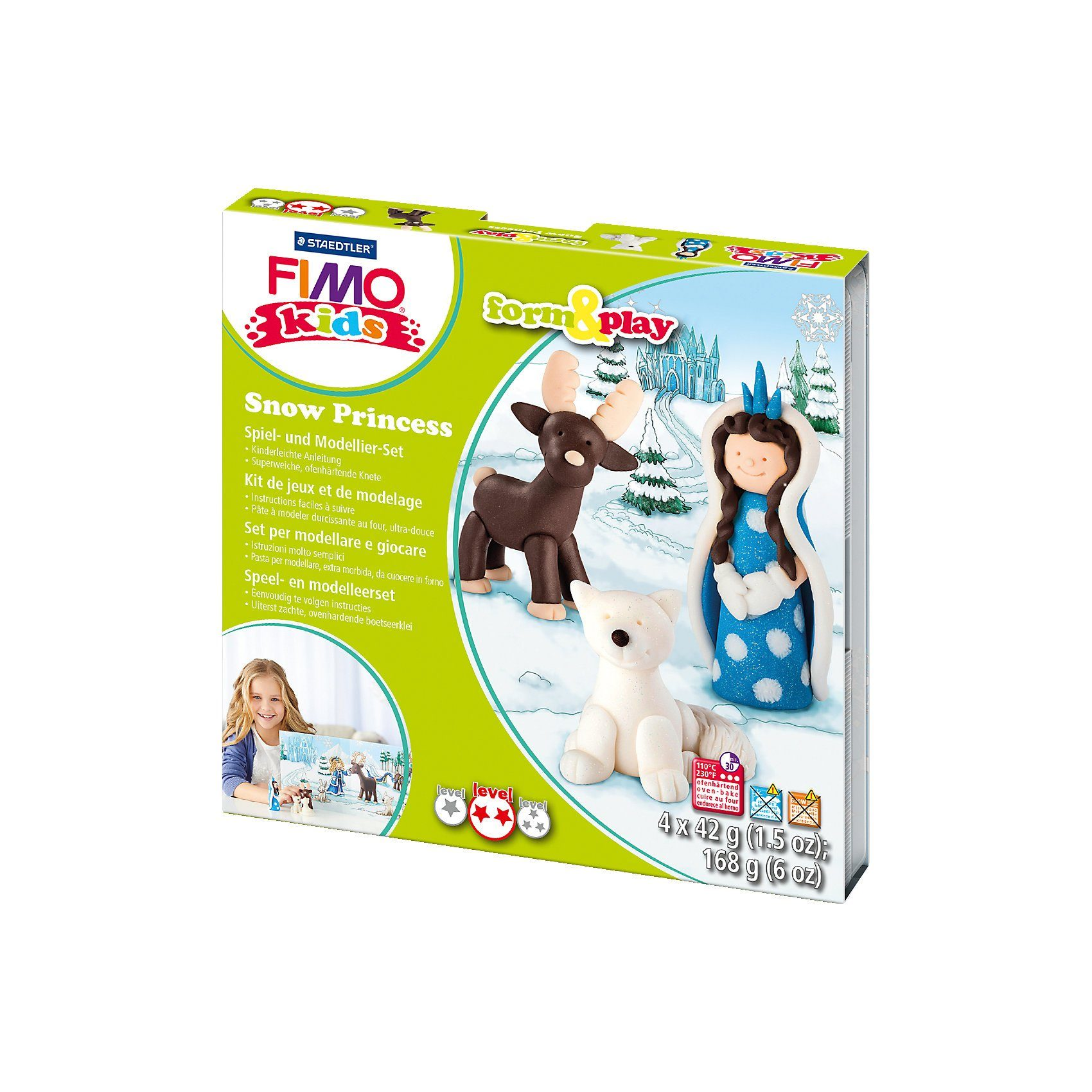 FIMO kids Form & Play Schnee-Prinzessin