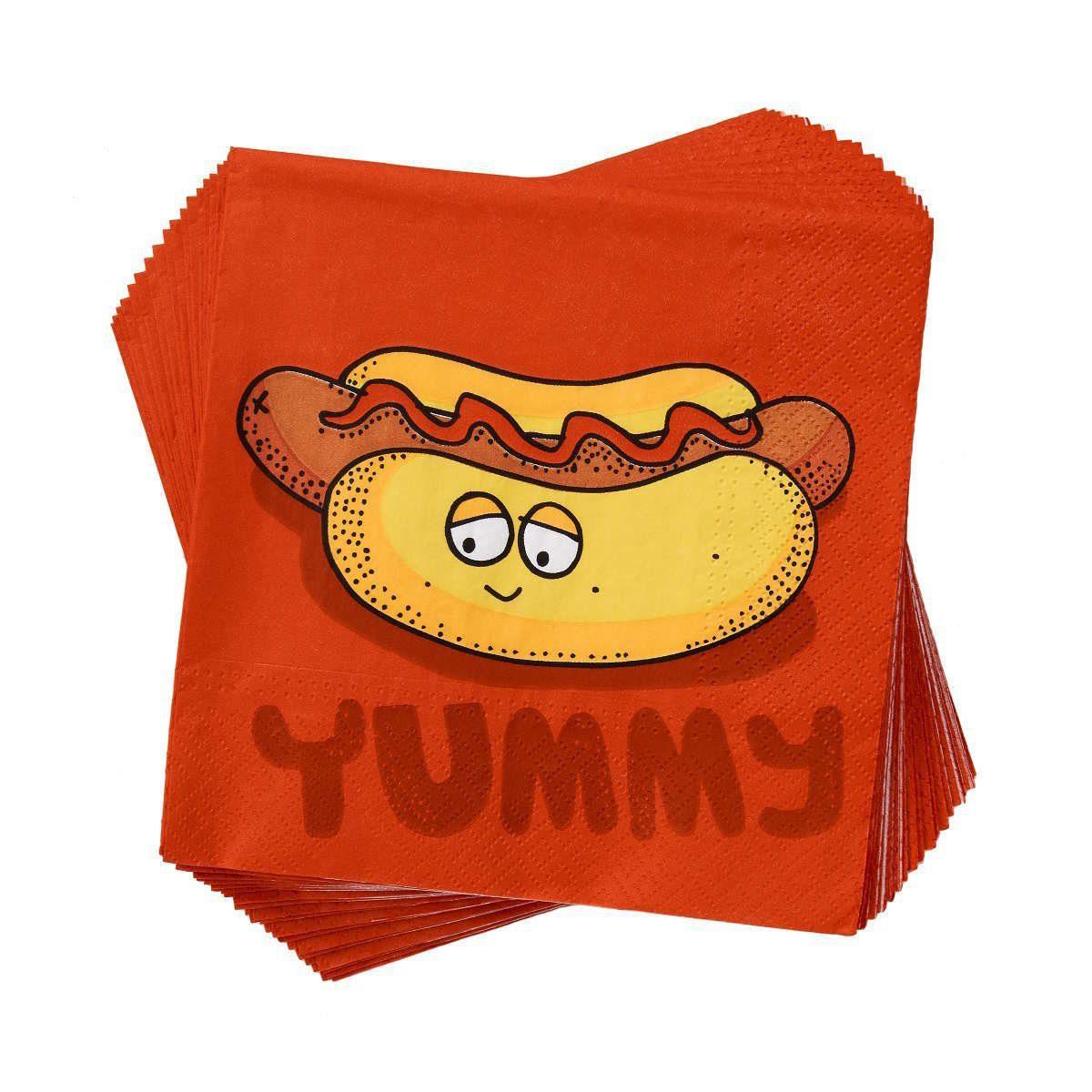BUTLERS APRÈS »Papierserviette Hotdog Yummy«
