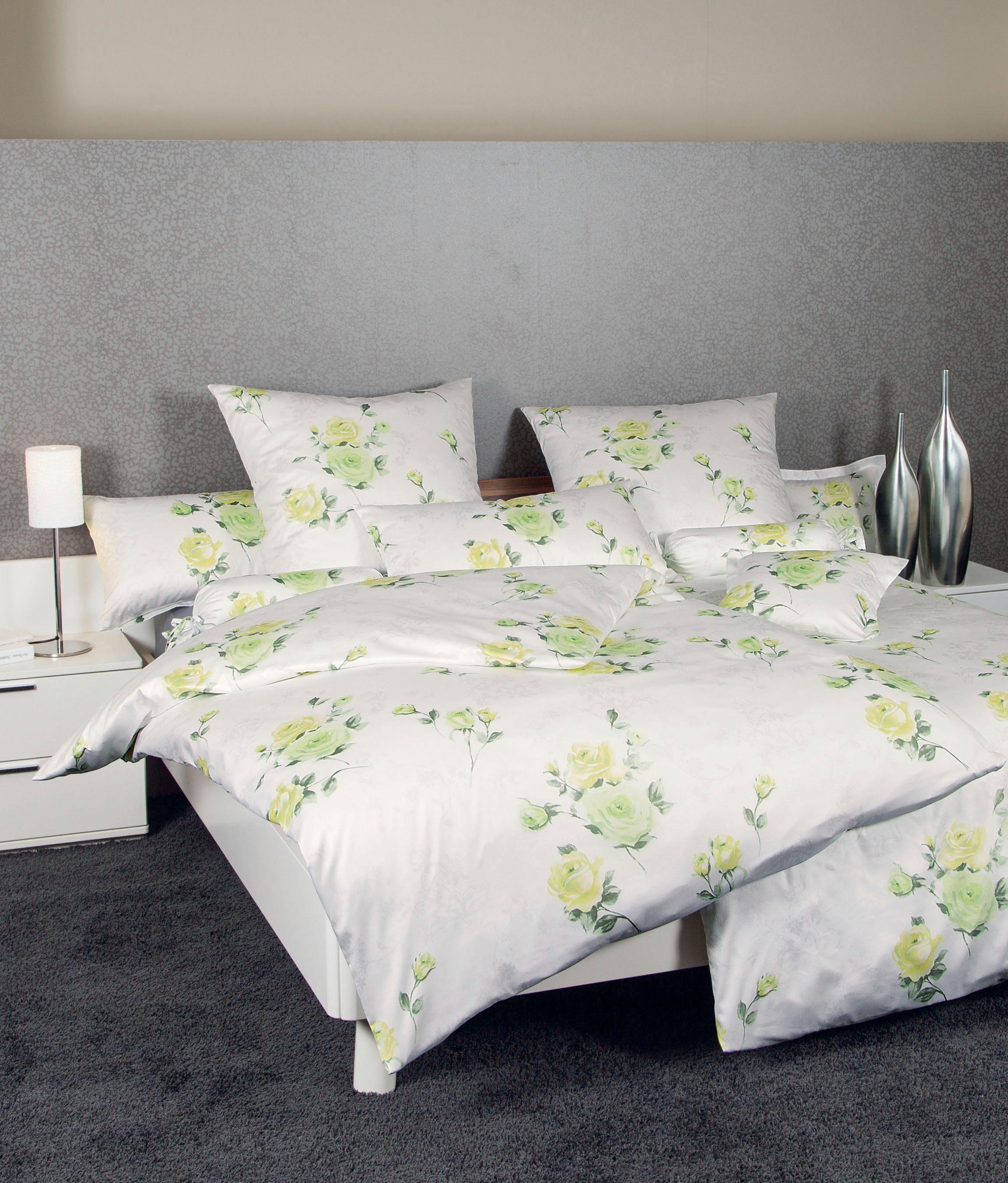 Bettwäsche »Locarno«, Janine, im Rosen Design