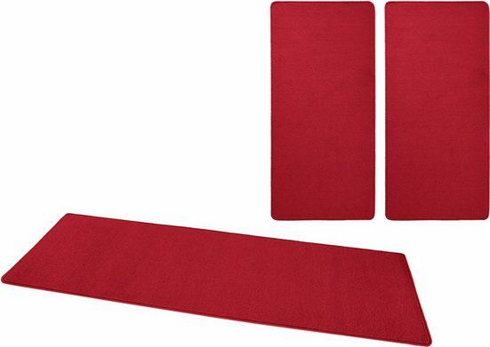 Bettumrandung »Fancy« HANSE Home, Höhe 7 mm, (Set, 3-tlg), Kurzflor, gekettelt