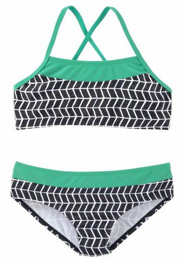 s.Oliver Beachwear Bustier-Bikini im Colorblockingstyle