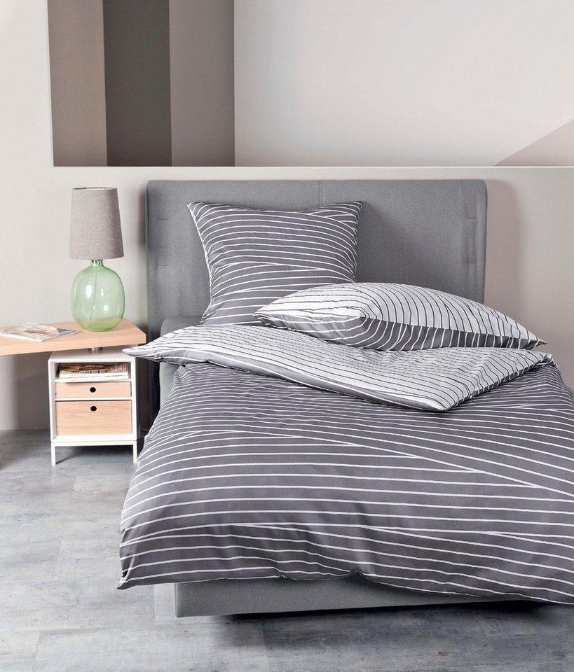 bettw sche janine wallis mit unterschiedlich verlaufenden streifen online kaufen otto. Black Bedroom Furniture Sets. Home Design Ideas