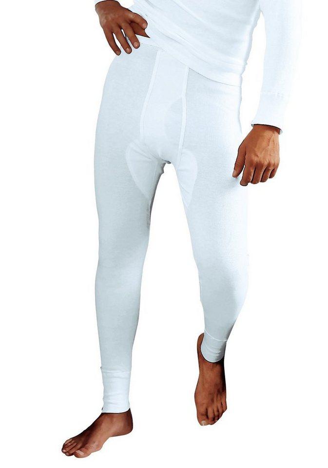 Clipper, lange Unterhose aus Fein- und Doppelripp (2 Stück), mit Eingriff in 2x weiß