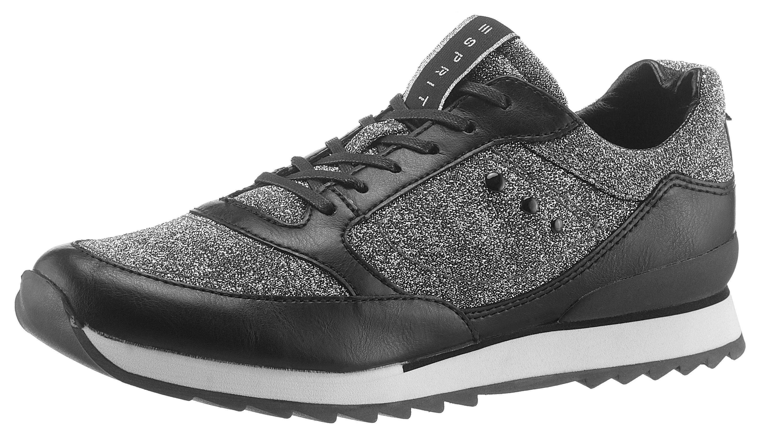 Esprit Astro Glitt Lu Sneaker, in glitzernder Optik online kaufen  grau-schwarz