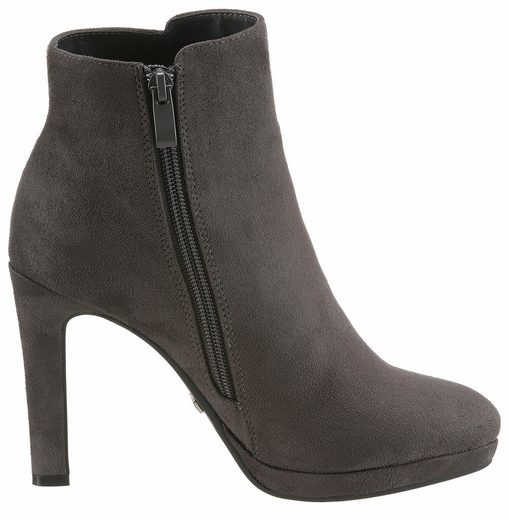Buffalo Ankle Boot, With Trendy Plateau