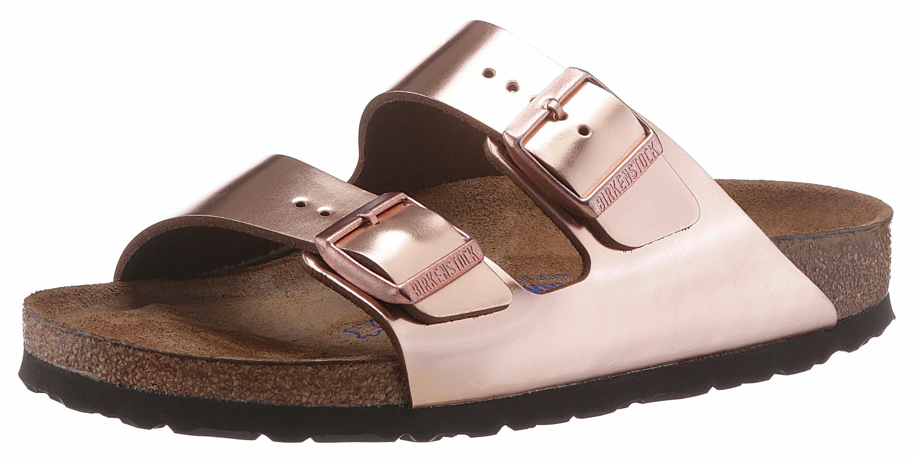 Birkenstock »Mayari« Pantolette, in schmaler Schuhweite und Snake-Optik, rosa, EURO-Größen, rosa