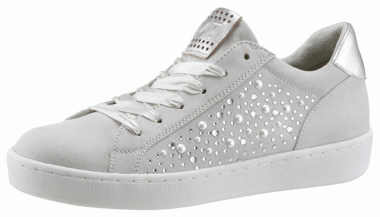 Marco Tozzi Sneaker, mit modischen Schmucksteinen, blau, 38 38