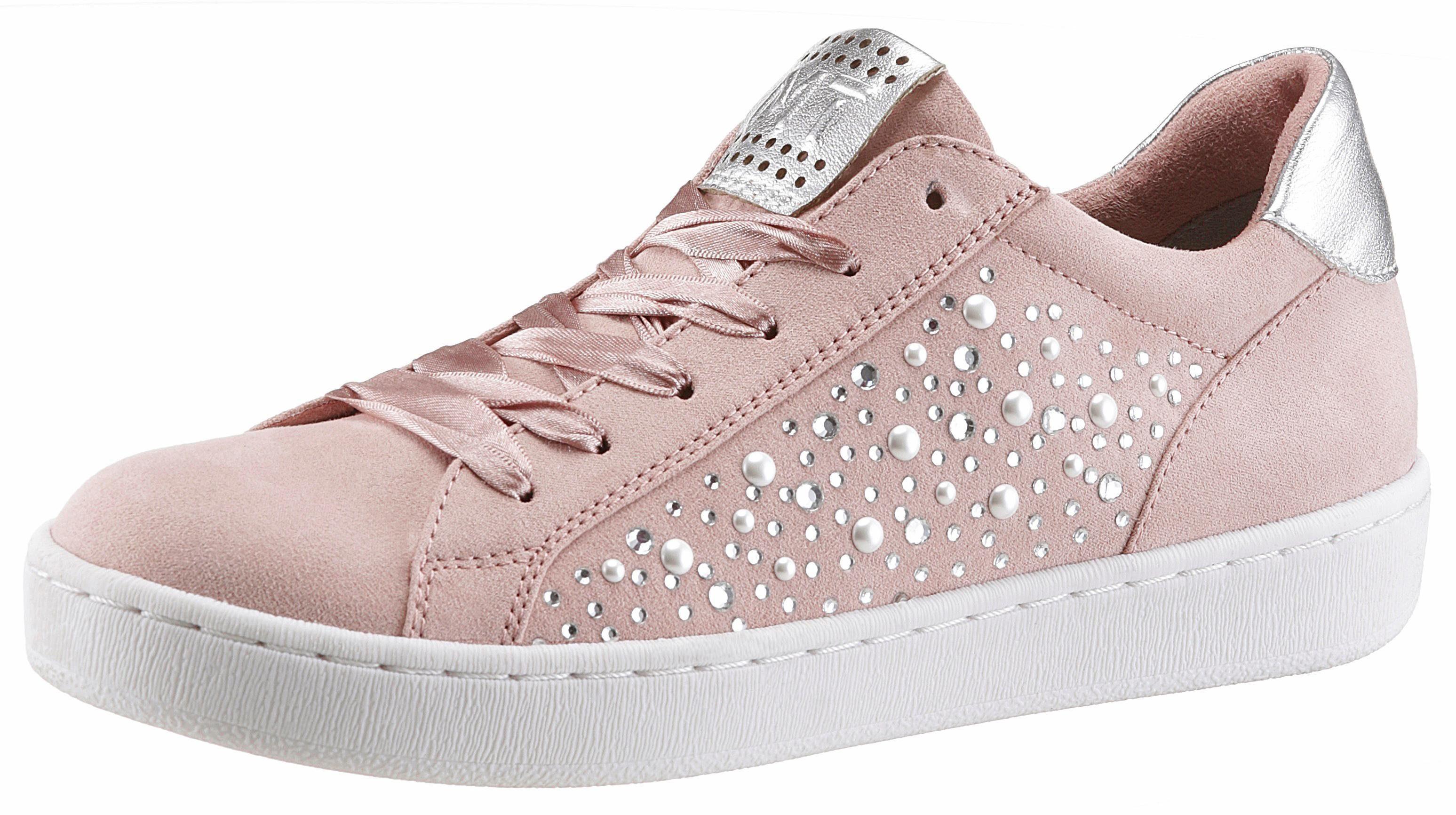 Marco Tozzi »Lederimitat« Sneaker, natur, beige