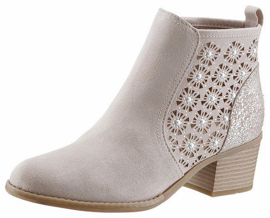 Marco Tozzi Ankle Boot, With Sparkling Stones