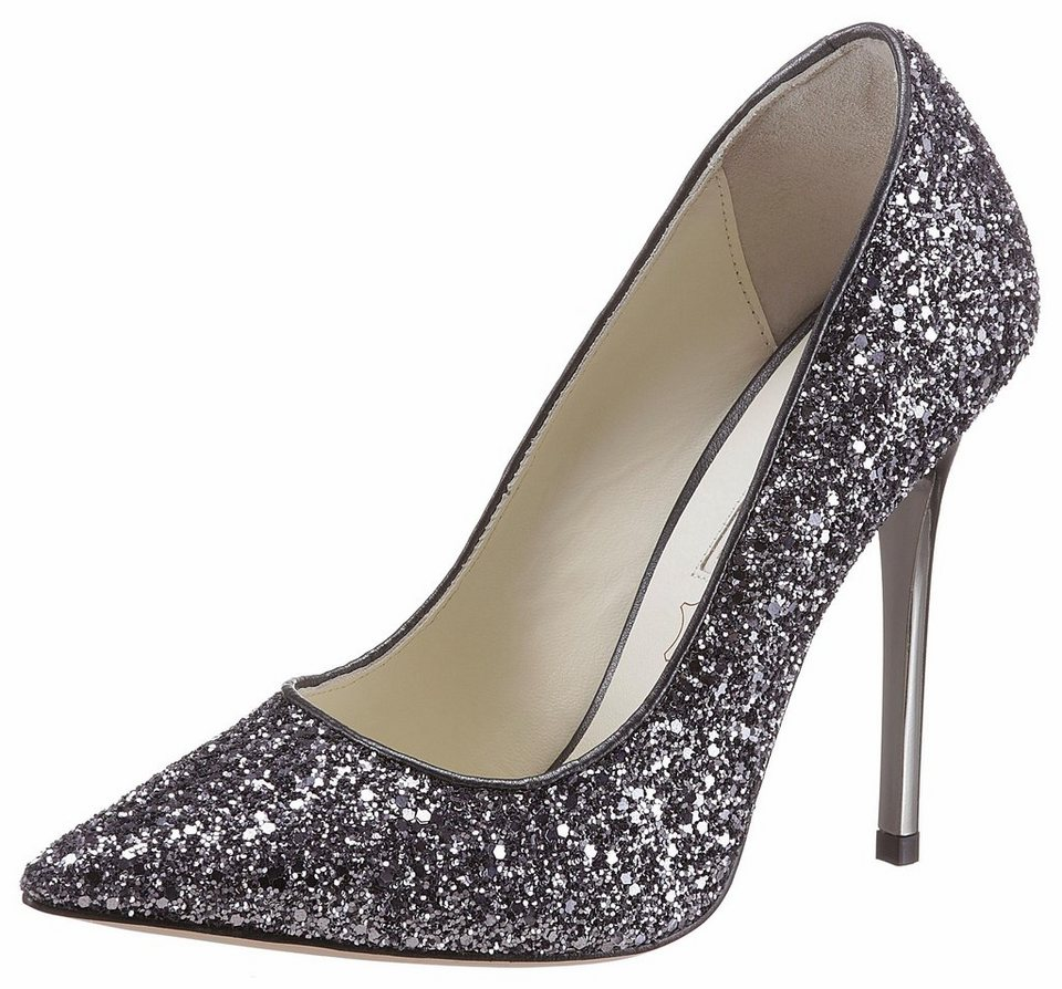 buffalo london high heel pumps mit allover glitter online. Black Bedroom Furniture Sets. Home Design Ideas