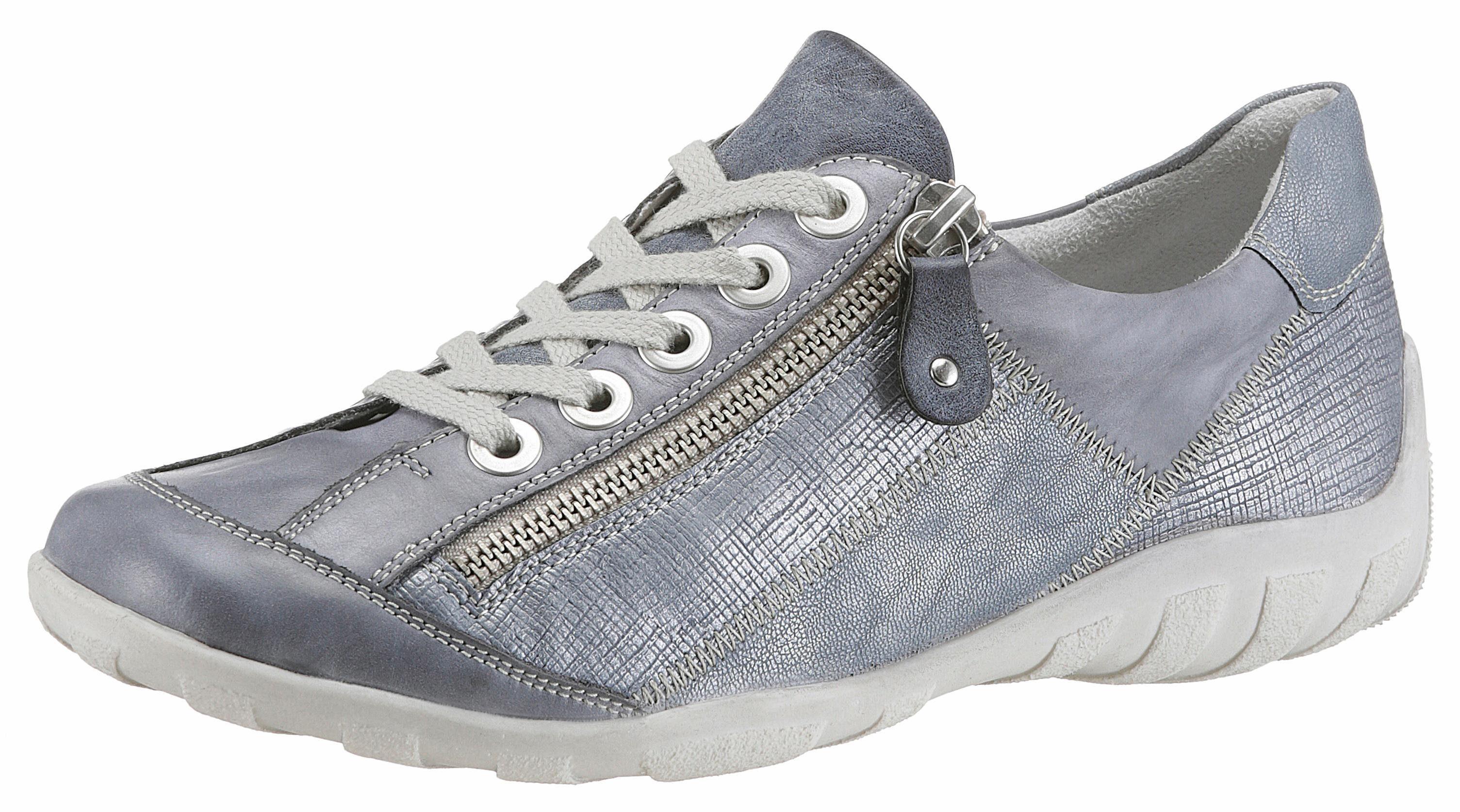 Gabor Sneaker, in Schuhweite G (weit), blau, jeansblau-silberfarben