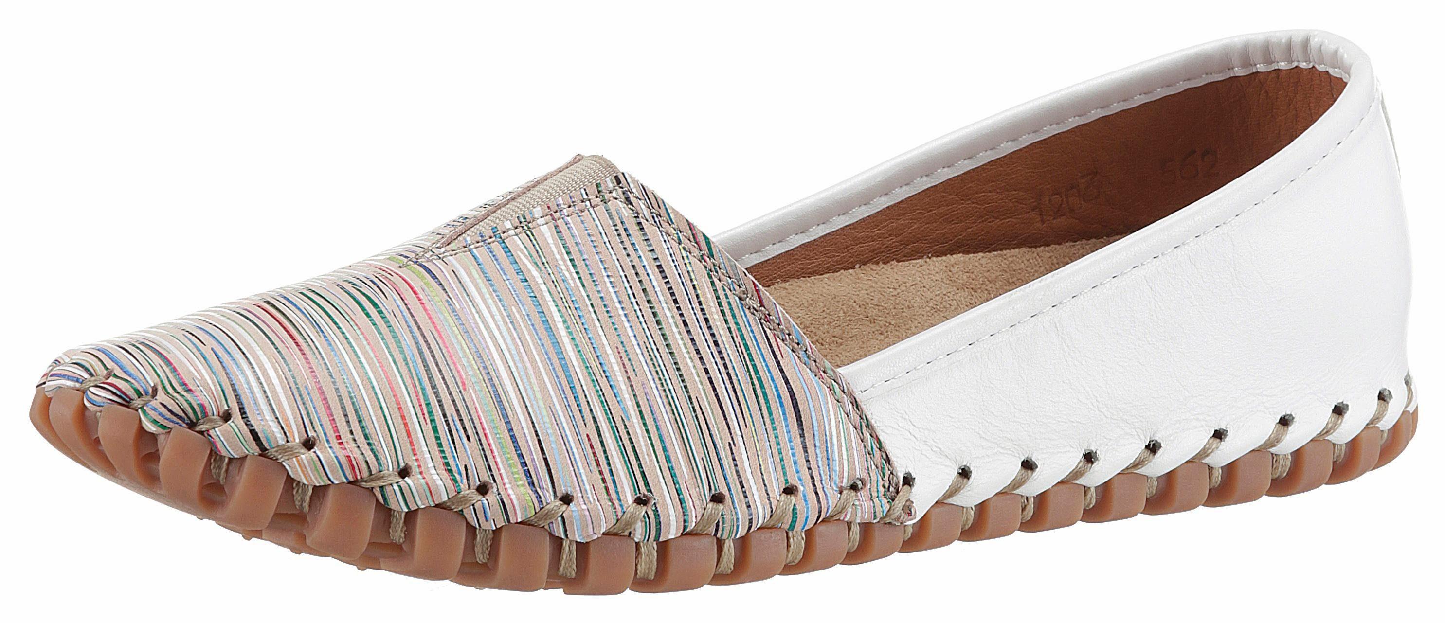 Gemini Slipper, mit toller Rahmennaht kaufen  weiß-bunt