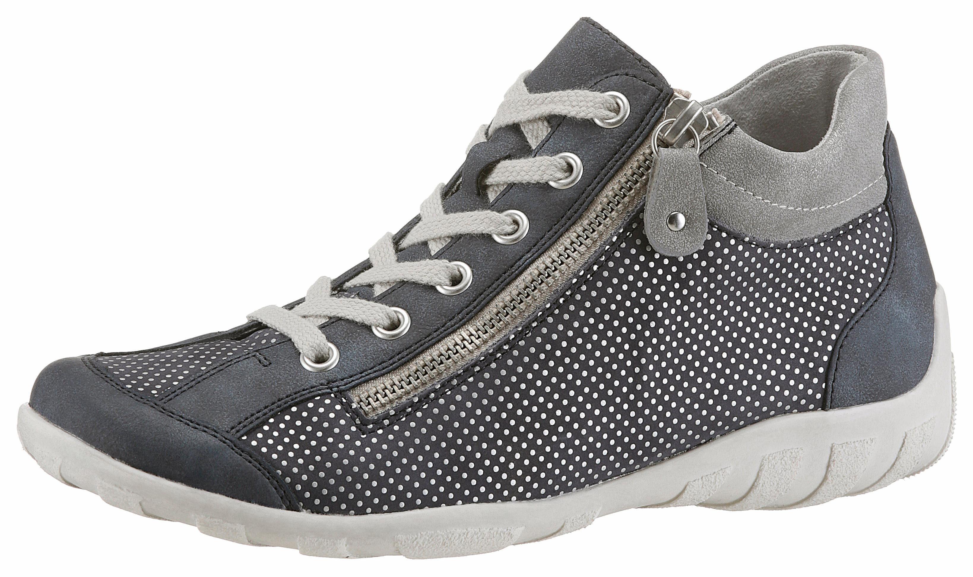 Remonte Sneaker, mit Perforation, blau, 39 39